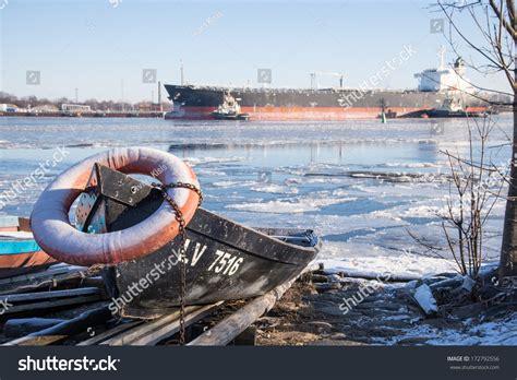 row boat values row boat on the coast at winter stock photo 172792556