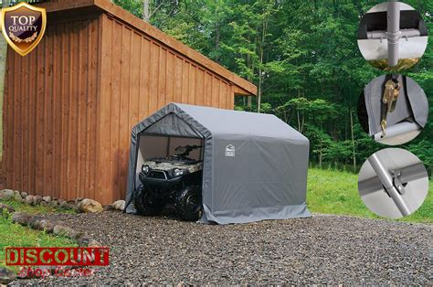 outdoor storage garage shed cover shade shelter utv atv motorcycle snow mobile ebay