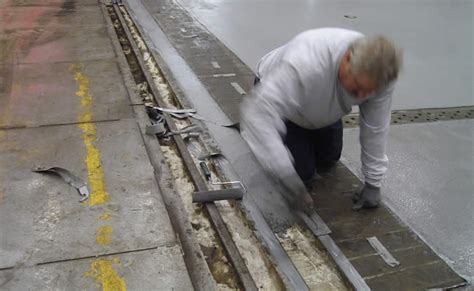 industrial concrete floor trench filling