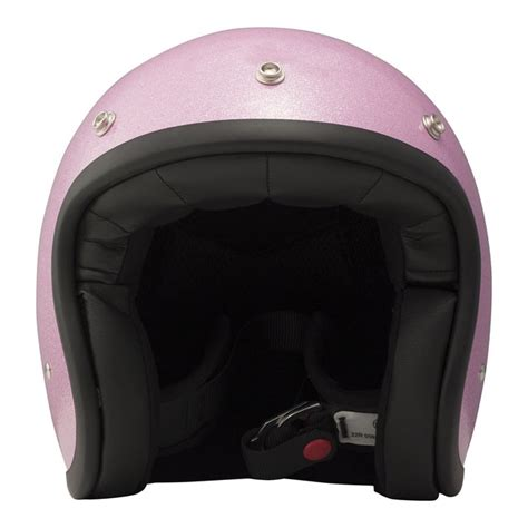 Agyo Helmet Retro Glitter Pink dmd vintage helmet glitter pink thunderbike h d shop
