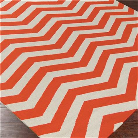 Orange And White Rugs by Orange Rugs Decor By Color