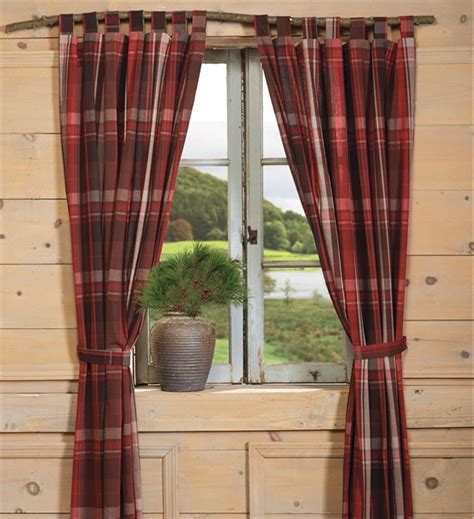 Country Cabin Curtains Country Plaid Curtains Shop Everything Log Homes