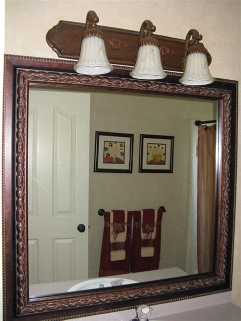 Bathroom Mirror Frame Kits | mirror frame kit traditional bathroom salt lake city