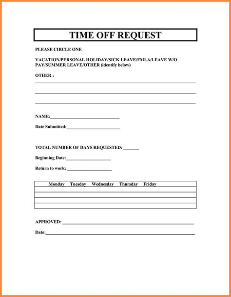 10 holiday request form template bussines proposal 2017