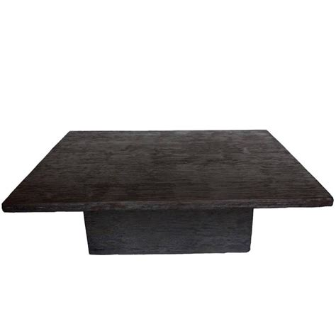 Cube Coffee Table Custom Reclaimed Wood Cube Coffee Table In Espresso Finish For Sale At 1stdibs
