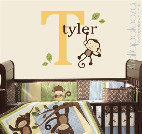 Custom Nursery Wall Decals Custom Monkey Wall Decal Room Nursery Decal Monkey