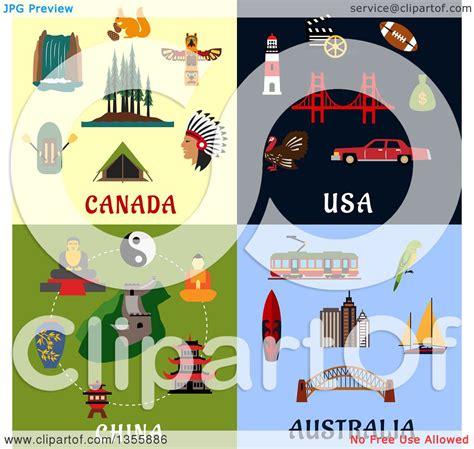 graphics design usa clipart of flat design canada usa china and australia