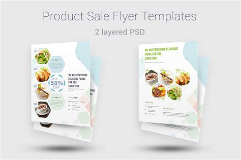 product flyer template product sale flyer templates templates on creative market
