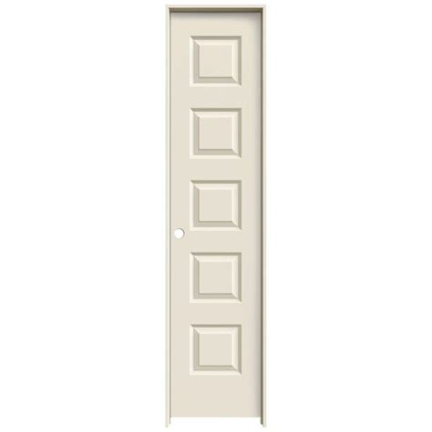 jeld wen 18 in x 80 in molded smooth 5 panel primed