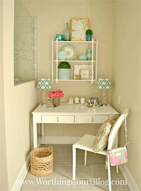 Bathroom Makeup Vanity Old Desk Turned Into A Dressing Table Worthing Court
