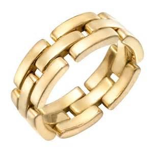 gold band cartier gold panth 232 re band ring at 1stdibs