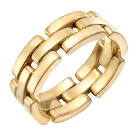 Band Rings by Cartier Gold Panth 232 Re Band Ring At 1stdibs