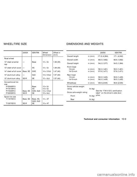 NISSAN SENTRA 1998 B14 / 4.G Owners Manual