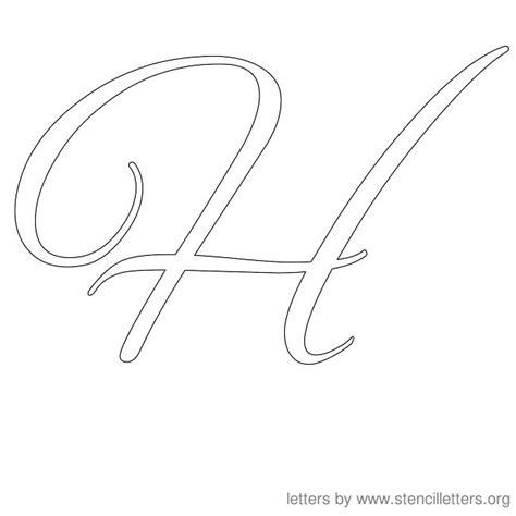 cursive alphabet template uppercase h cursive