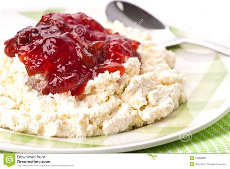cottage cheese jam stock image image 12005881