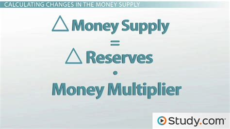 Credit Multiplier Formula How The Reserve Ratio Affects The Money Supply Lesson Transcript Study