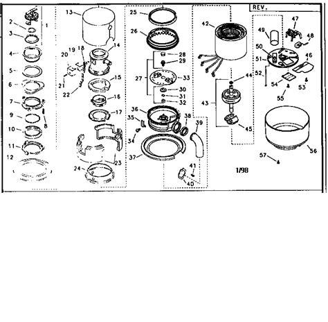 garbage disposal parts diagram in sink erator disposer parts model dfb9000aax2 sears