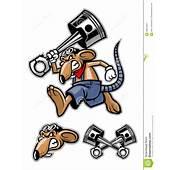 Mascote Do Rato Que Guarda Um Pist&227o Grande Ilustra&231&227o