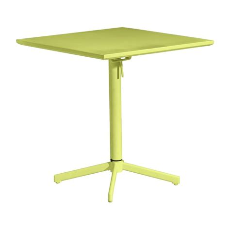 Zuo Big Wave Lime Patio Folding Square Table 703042 The Patio Folding Table
