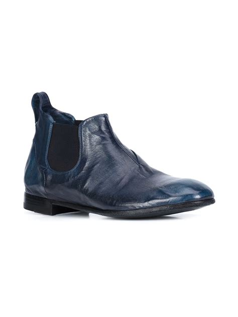 hobbs alice chelsea boots silvano sassetti distressed chelsea boots in blue lyst