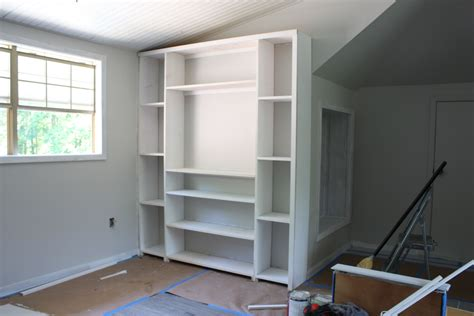 base cabinets for built ins create built in shelving and cabinets on a budget