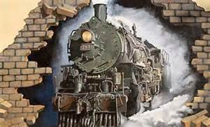 Train Mural Train Room Pinterest