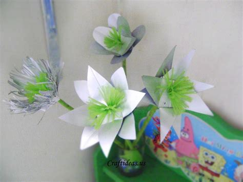 recycling for kids beautiful flower from milk boxes craft ideas