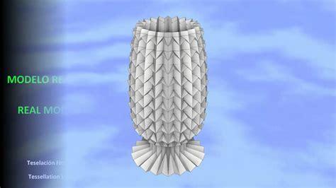origami florero origami vase box pleating origami florero caja plegada