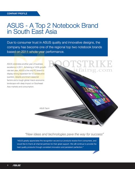 Asus Brand Laptop Price In Malaysia asus notebooks top 2 notebook brand in south east asia sitex 2012 price list brochure flyer image