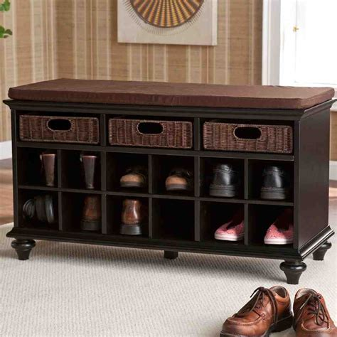 black entry bench with storage black entryway storage bench home furniture design