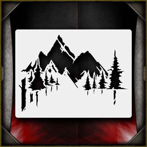 airbrush pattern mountains 2 airbrush stencil template airsick ebay