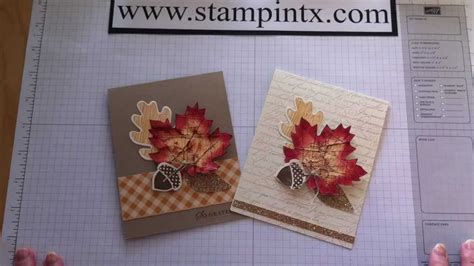 fall cards to make how to create beautiful fall cards using stin up