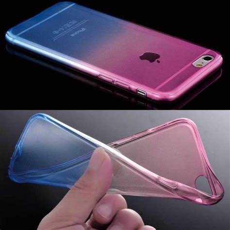 colorful ombre silicone gel tpu soft clear cover for