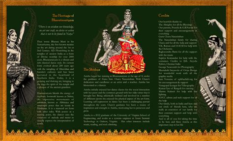 Bharatanatyam Arangetram Tri Fold Brochure Inside By ōviya Design Studio Brochure Design By Arangetram Brochure Templates