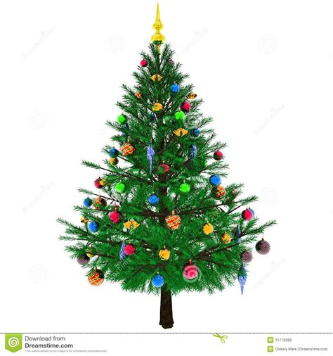 albero di natale decorato illustrazione di stock immagine