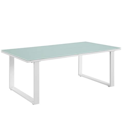 White Outdoor Coffee Table by Island Outdoor Coffee Table Modern Furniture Brickell Collection
