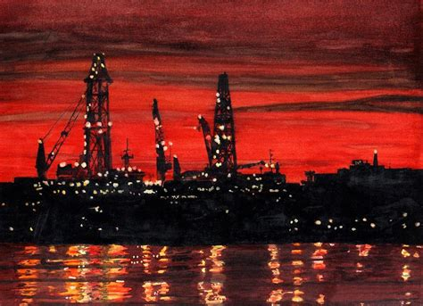paint nite portland maine rigs construction portland harbor painting by