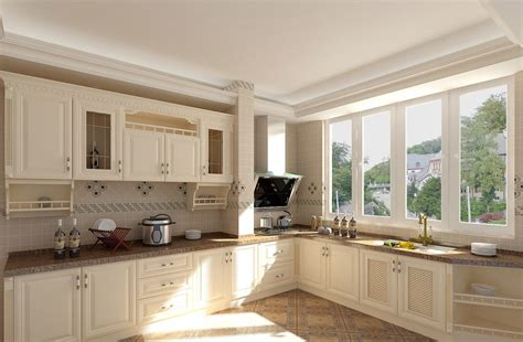 kitchen styles and designs pastoral style white kitchen interior design 3d