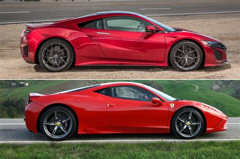 newest ferrari new acura nsx or used ferrari 458 motor trend