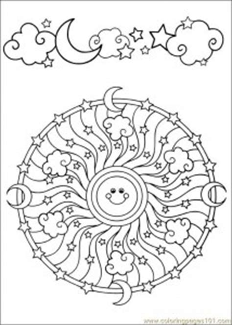Space Mandala Coloring Page For Kids Crafts And Sun Moon Mandala Coloring