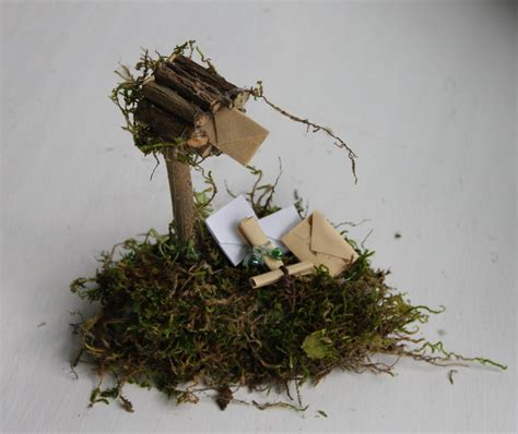 Handcrafted Fairies - mailbox with letters parcels handcrafted by olive
