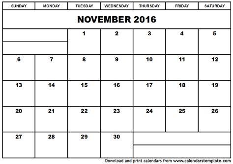 calendar of month of november calendar template 2016 november 2016 calendar template