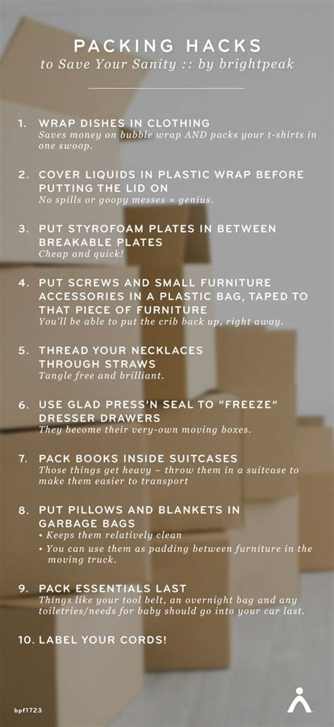packing hacks moving packing hacks save your sanity 10 easy steps to prepare