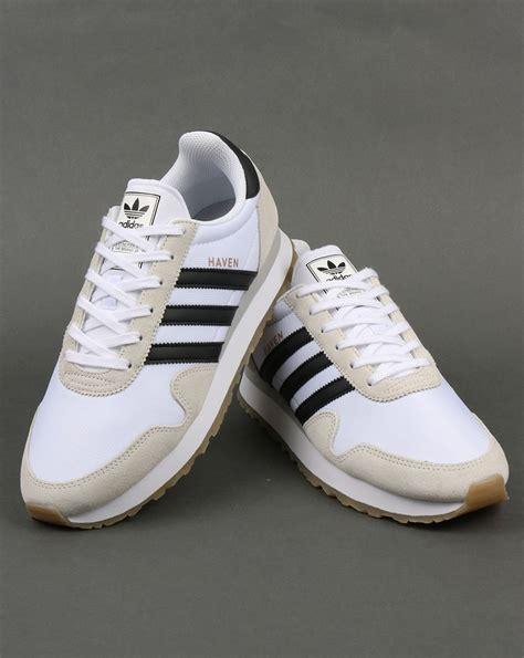 adidas haven adidas haven trainers white black gum originals runner
