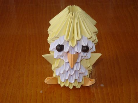 3d origami tutorial easy 3d origami chick tutorial youtube