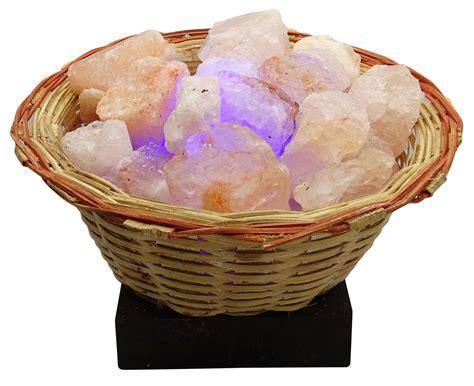 crystal decor salt l ls himalayan crystal salt wooden basket air