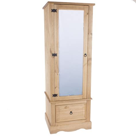 Single Mirrored Wardrobe by Abdabs Furniture Corona Pine Single Wardrobe With