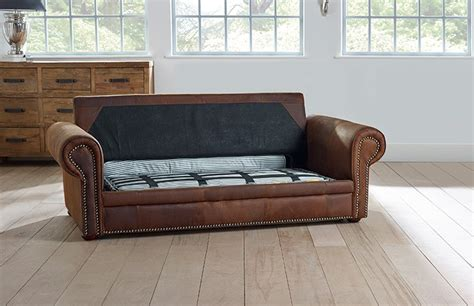 sofa bed hamilton hamilton studded leather sofa bed chesterfield company
