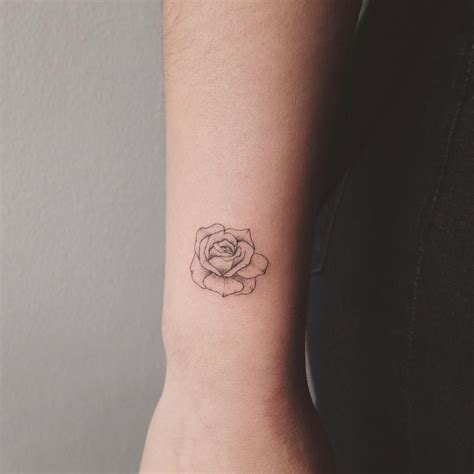 small tattoo roses tiny toronto jess chen