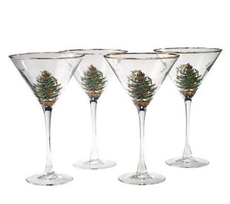 Spode Glasses - spode tree set of 4 martini glasses qvc